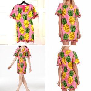 Trina Turk Raine 2 Pineapple Print Dress w/Tassels